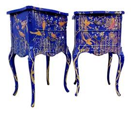 Image of Blue Nightstands