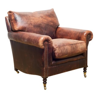 Leather Chair by George Smith For Sale