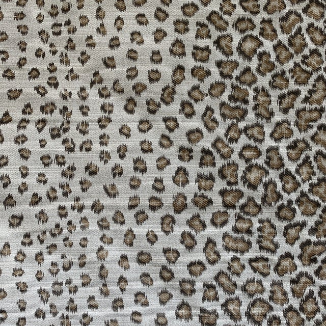 "Colefax & Fowler ""Livingstone"" Leopard Print Fabric- 2 1/2 Yards For Sale"