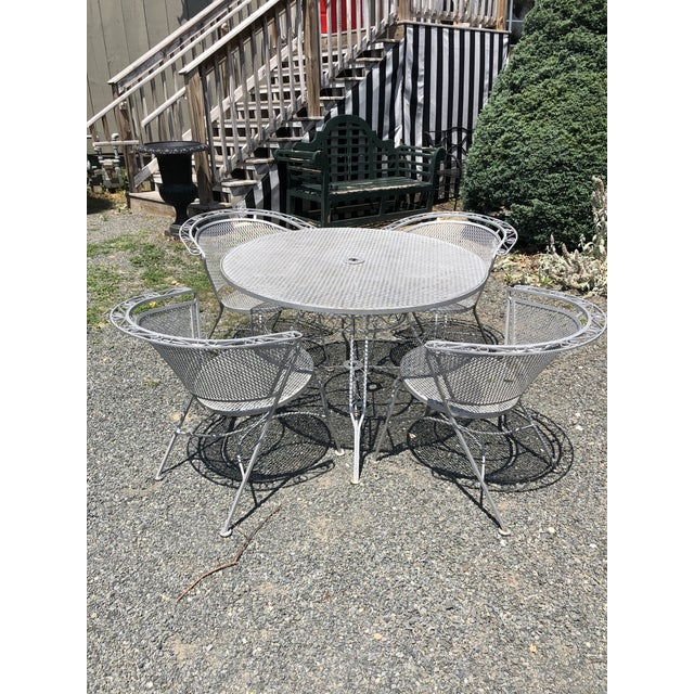 Mid Century Modern Woodard Round Outdoor Dining Set For Sale - Image 12 of 12