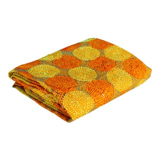 Dahi Silk Kantha Scarf For Sale