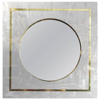 Mirror in Brass and Chrome Port Hole Frame by C. Jeré - 50th Anniversary Sale For Sale