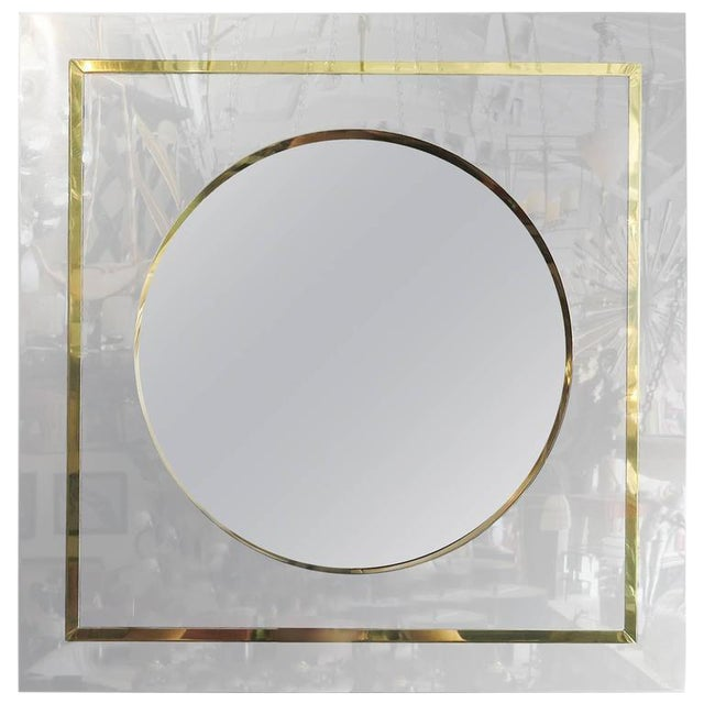 Mirror in Brass and Chrome Port Hole Frame by C. Jeré - Image 1 of 4