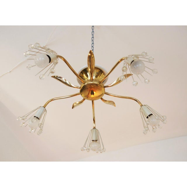 Brass Mid-Century Brass Chandelier by Emil Stejnar for Rupert Nikoll For Sale - Image 7 of 7