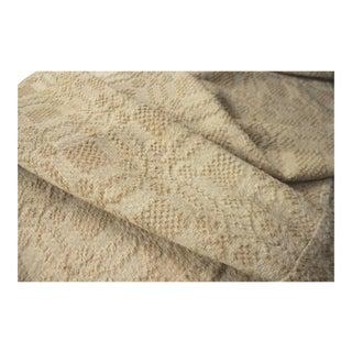 1920s Handmade Linen Hemp Fabric Tablecloth Throw / Rug - 3′6″ × 4′6″ For Sale