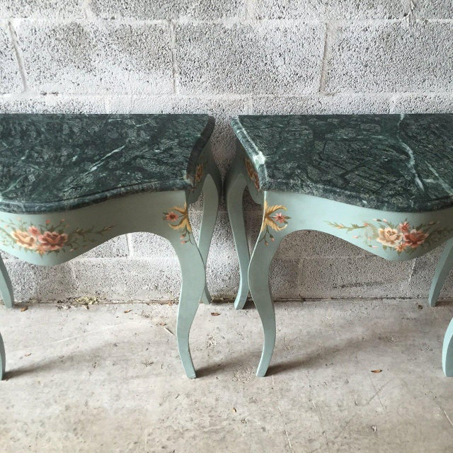 1930s 1930s French Louis XVI Side/Corner Tables/ Night Stands - a Pair For Sale - Image 5 of 6