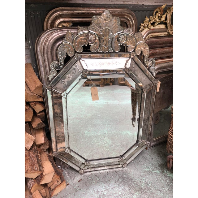 Silver 19th Century Venetian Mirror For Sale - Image 8 of 10