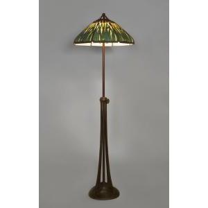 Americana American Mission bronze adjustable floor lamp For Sale - Image 3 of 11