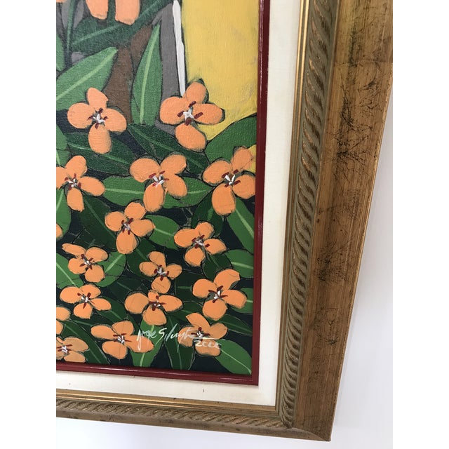 """Original Oil Painting by well known local artist Jorge Silvestre. Titled """"Ventana Amarilla"""" (""""Yellow Window""""). Dated July..."""