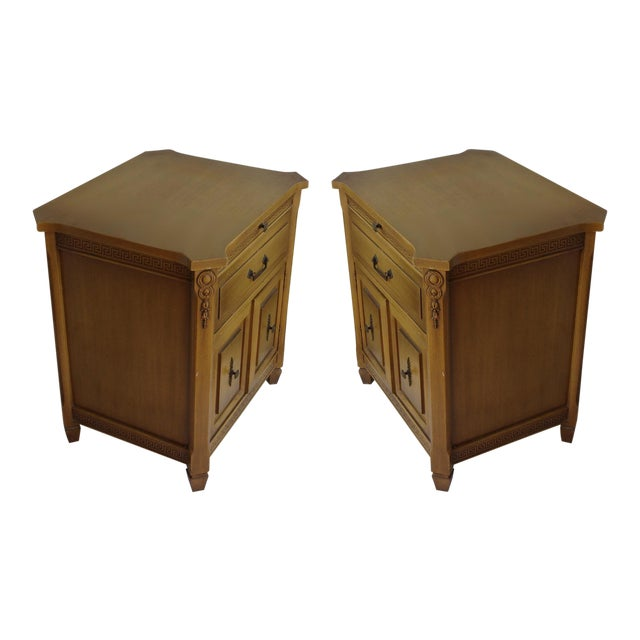 Midcentury Modern Walnut Nightstands - A Pair - Image 1 of 6