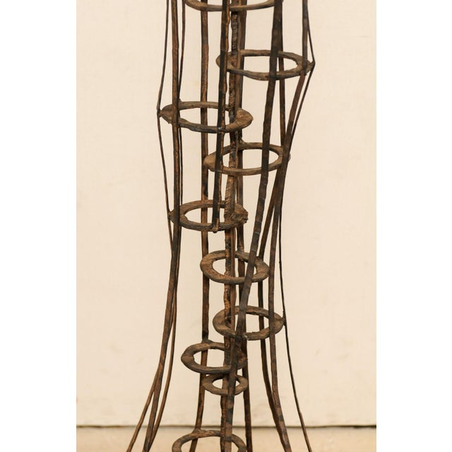 Brown Tall French Sculptural Iron Abstract Art Piece, Circa 1930s-1940s For Sale - Image 8 of 12