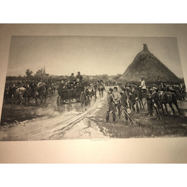 1881 Edouard Detaille Military Scene Lithograph For Sale - Image 4 of 7
