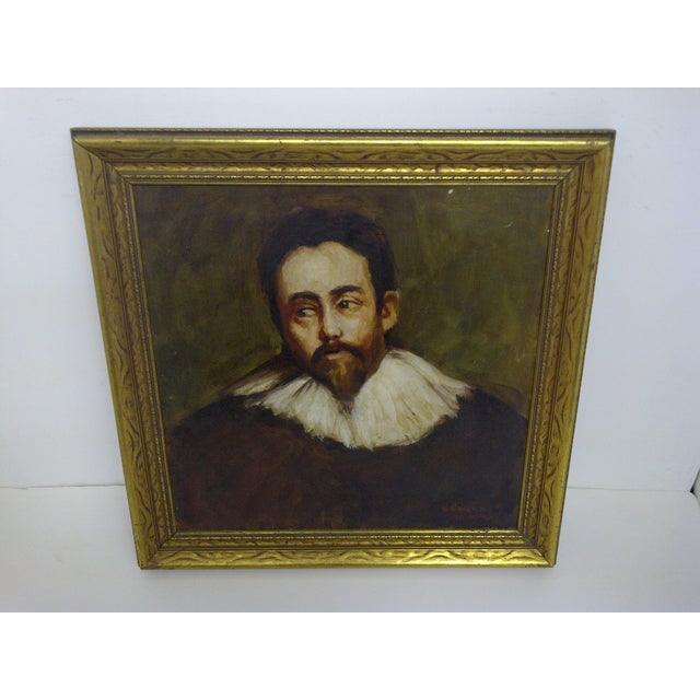 """SPANISH NOBLEMAN"" -- By Willian Newfield -- December 10, 1949 Original Painting -- Framed / No Glass The Painting Is In..."