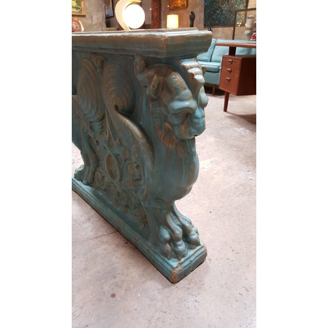 Winged Lion Pedestal by Gladding McBean Pottery For Sale In San Francisco - Image 6 of 6