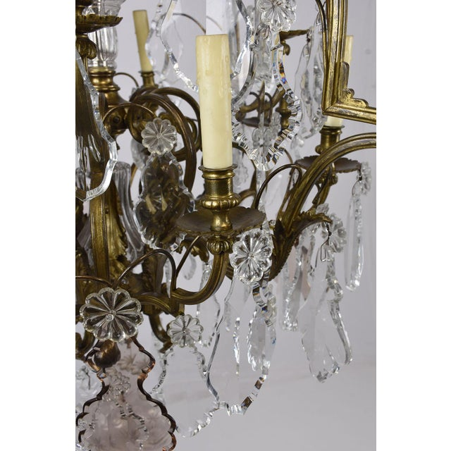 19th century baccarat crystal chandelier chairish this 1880s antique crystal chandelier is made by baccarat there are 16 bronze arms illuminating aloadofball Image collections