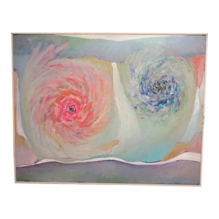 Late 20th Century Winona Crawford Abstract Painting For Sale