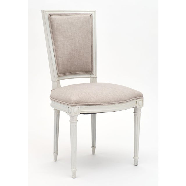 French Louis XVI Style Painted Dining Chairs - Set of 6 For Sale - Image 3 of 10