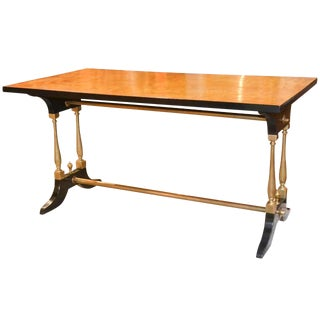 French Midcentury Burl Walnut Coffee Table For Sale