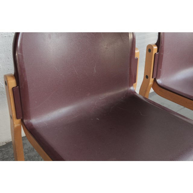 Mid 20th Century Vintage Stackable Bentwood and Plastic Thonet Chairs- a Pair For Sale - Image 5 of 6