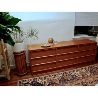 Long Teak Minimalist Danish Modern Dresser Preview