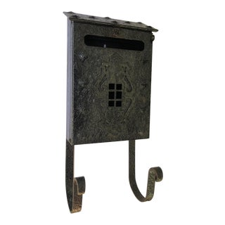 MIssion Tudor Gothic Iron House Mailbox For Sale