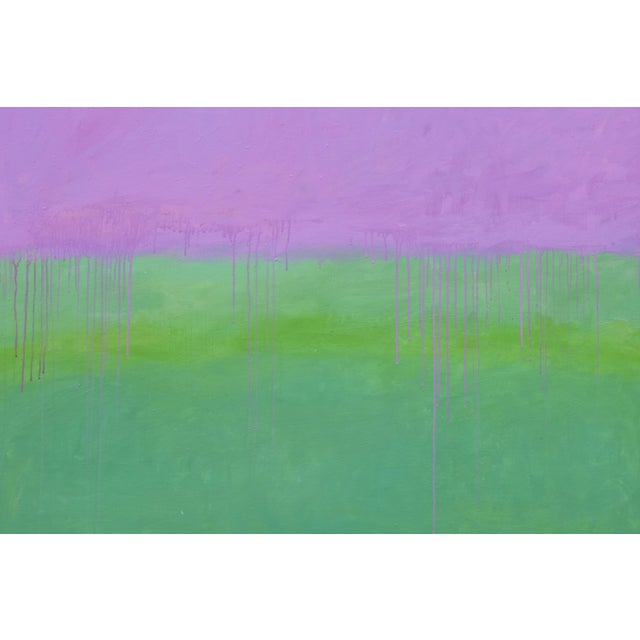 """Abstract Contemporary Abstract Painting """"Weeping Cherry"""" by Stephen Remick For Sale - Image 3 of 13"""
