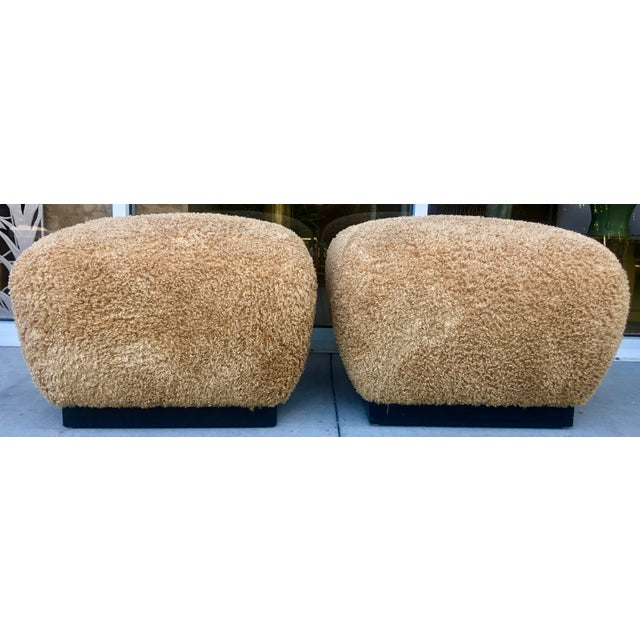 Pair Marge Carson Large Ottomans For Sale - Image 9 of 9