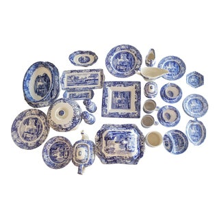 Spode's Blue Italian Dinnerware and Dishes Collection For Sale