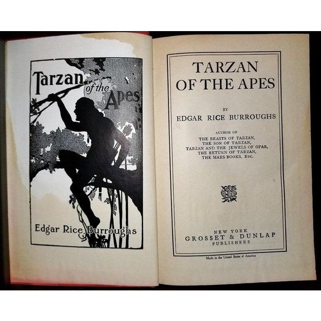 Tarzan of the Apes by Edgar Rice Burroughs Grosset 1st Edition For Sale - Image 4 of 10