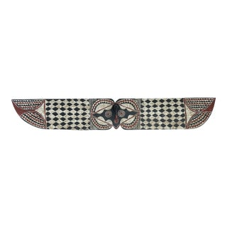 "African Horizontal Butterfly Mask Burkina Faso 78"" W by 12"" H For Sale"