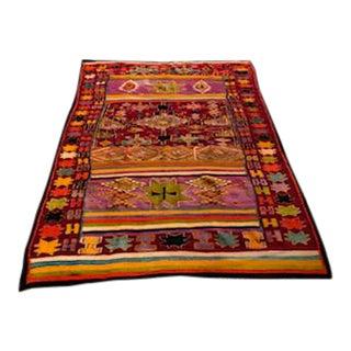 Magnificent Flat Weave Kilim Rug - 5′5″ × 8′2″