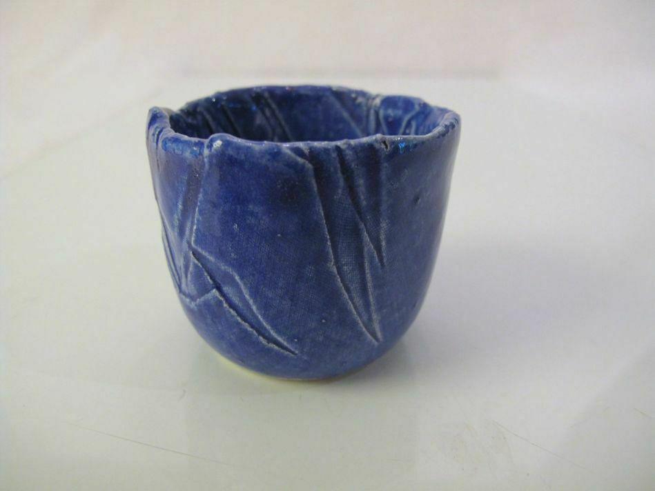 Vibrant Blue Tea Bowl Cup