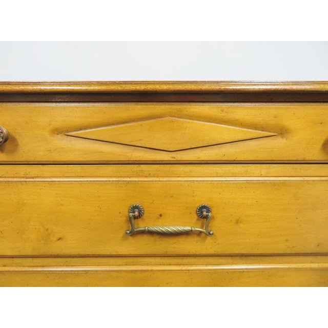 Italian Style Carved 7-Drawer Tall Chest For Sale - Image 10 of 11