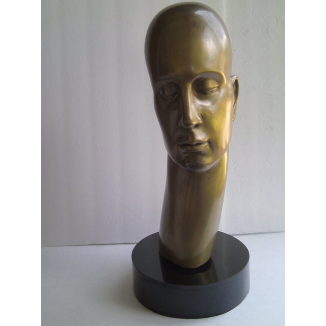 Large Male Bronze Sculpture - Image 8 of 10