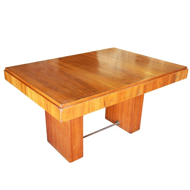 1970s Charles Dudouyt Cubist Inspired Walnut Desk For Sale - Image 5 of 10