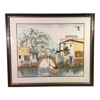 """Contemporary Korean Porcelain Tile Painting - 21""""x25"""" For Sale"""