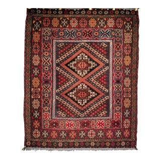 Vintage Baluch Carpet - 3′5″ × 4′3″ For Sale
