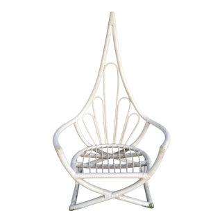 1960s Vintage Henry Olko Rattan Peacock Chair For Sale