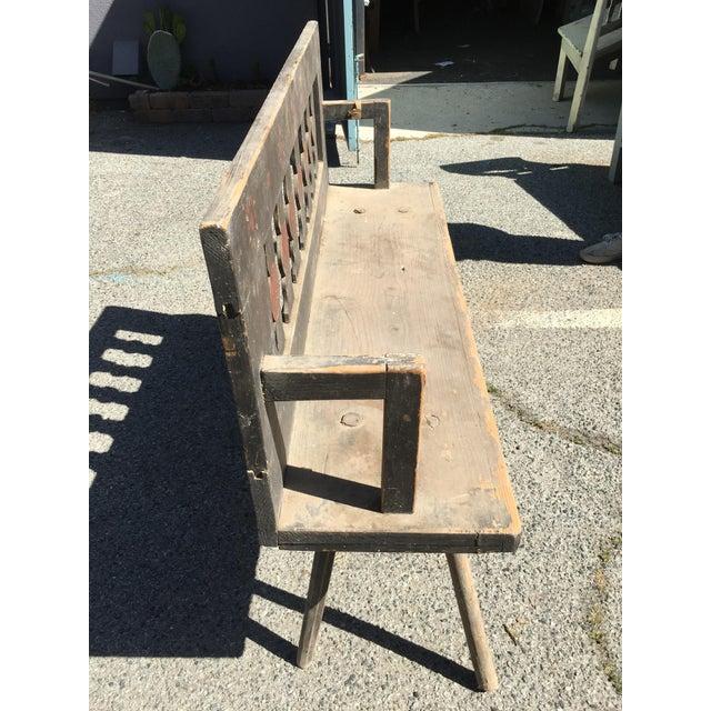 Antique Rustic European Bench - Image 4 of 4