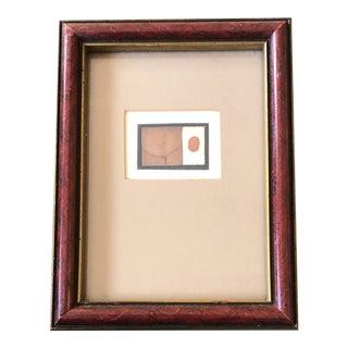 Original Miniature Listed Artist J. Demarais Framed Abstract Lithograph For Sale