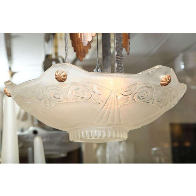 Art Deco French Art Deco Chandelier by Sabino For Sale - Image 3 of 10
