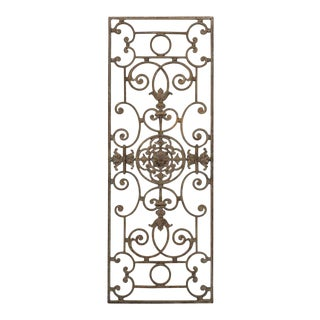 French 20th Century Wrought Iron Grille For Sale