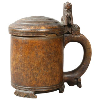 Norwegian Burlwood Tankard For Sale