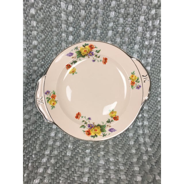 Ceramic Shabby Chic Mismatched Floral China Plates- Set of 4 For Sale - Image 7 of 13