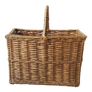 Antique Gathering Basket For Sale