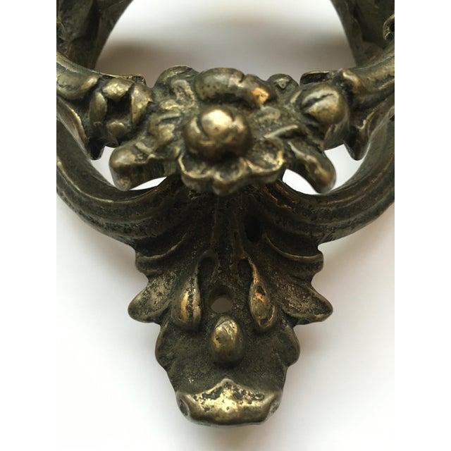 1910s Victorian Cast Brass Door Knocker For Sale - Image 5 of 7