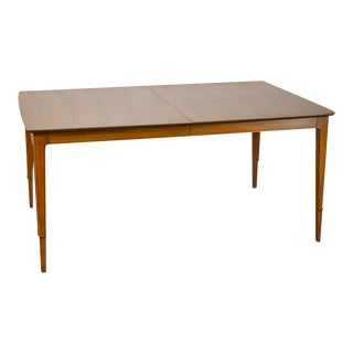 Mid Century Modern Walnut Expandable Dining Table