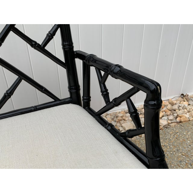 Jonathan Adler Black Lacquered Faux Bamboo Chippendale Chairs, Pair For Sale In Richmond - Image 6 of 13