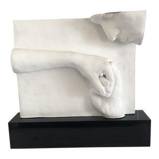 "1970s Vintage Surrealist Plaster ""Hands"" Sculpture For Sale"