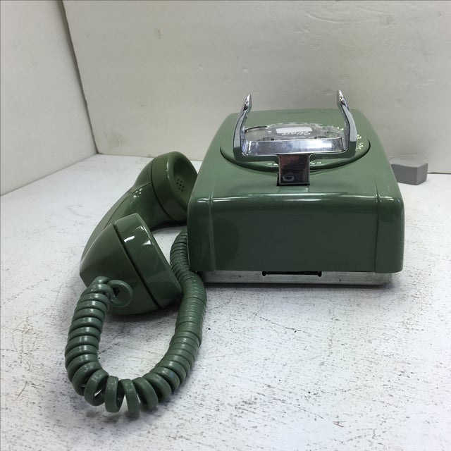 Moss Green Western Electric Rotary Dial Wall Phone - Image 6 of 11